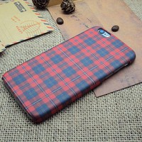 Vintage Red Checks iPhone 7 7 Plus & iPhone 6 6s Plus & iPhone 5s se Case Personal Tailor Cover + Gift Box-170928