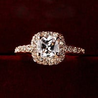 Women Charming Bridal Wedding Engagement Party Shiny Luxury Rhinestone Alloy Ring Jewelry YHS = 6014741575