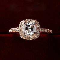 Women Charming Bridal Wedding Engagement Party Shiny Luxury Rhinestone Alloy Ring Jewelry YHS = 5987792257