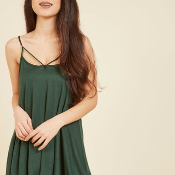As Far As You're Concert Tank Top in Forest | Mod Retro Vintage Short Sleeve Shirts | ModCloth.com