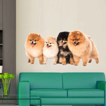 dogs wall Decals dogs wall decor dogs Full Color wall Decals Animals wall Decals veterinary clinic decor Home Decor for kids room cik2248