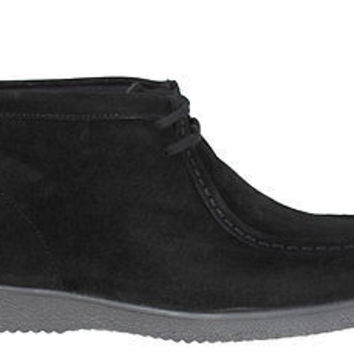 Hush Puppies Mens Ankle Boots Bridgeport Black Suede Medium (D, M)