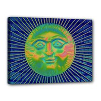 """Sun Face Canvas 16"""" x 12"""" (Framed) Canvas 16"""" x 12"""" (Stretched)"""