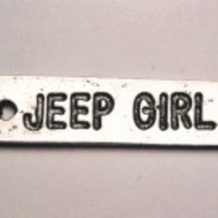 Jeep Girl Genuine American Pewter Charm