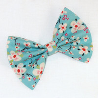 Hair Bow Vintage Inspired 1920s Japanese Flower Hair Clip Rockabilly Pin up Teen Woman