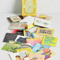 Everything Is Going To Be OK Notecard Set by Chronicle Books from ModCloth