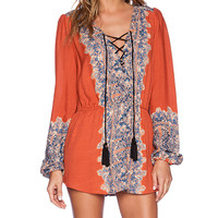 Free People Wildest Moments Tunic in Orange