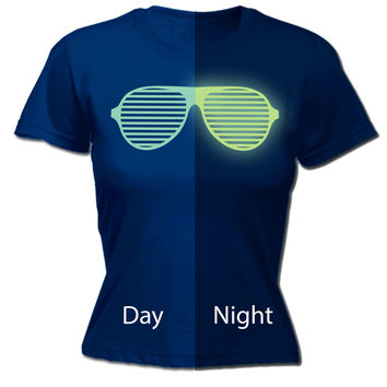 123t USA Women's Glow In The Dark ... Rave Sunglasses Funny T-Shirt