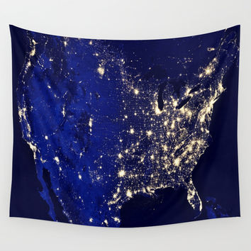 America Wall Tapestry by 2sweet4words Designs