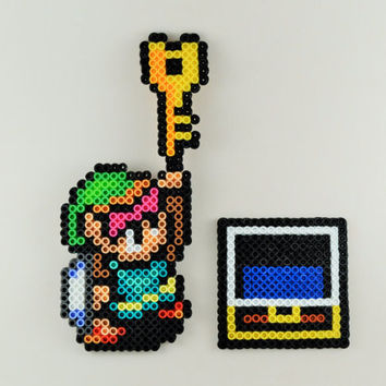 Key Link + Chest Perler Sprite