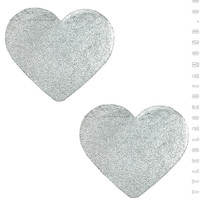 Heart Pasties in Silver