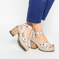 ASOS TAKE IT ON Chunky Heeled Sandals