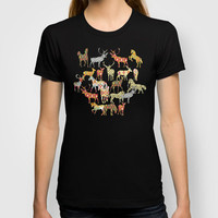 acid deer horse ikat party T-shirt by Sharon Turner