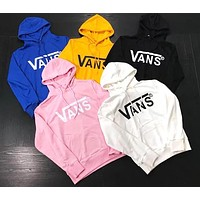 VANS Autumn Winter Couple Casual Print Long Sleeve Hooded Pullover Top Sweater Sweatshirts