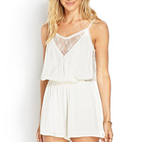Surplice and Lace Romper