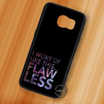 Beyonce Flawless Quote Nebula - Samsung Galaxy S7 S6 S5 Note 7 Cases & Covers