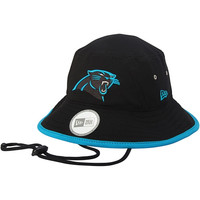 Carolina Panthers New Era Training Bucket Hat with Strap – Black
