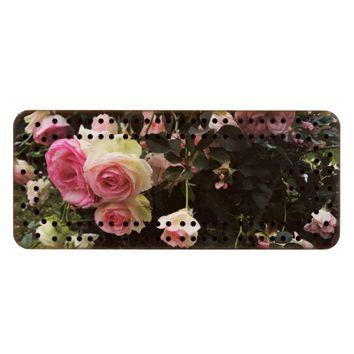 Spray of Pink Roses Cribbage Board