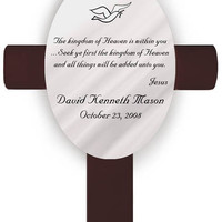 Personalized Confirmation Cross - Heaven