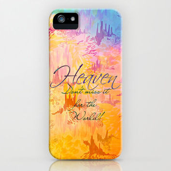HEAVEN Dont Miss It God Christian Jesus Faith Art iPhone 4s 5 5s 5c 6 Samsung Galaxy Case Pastel Orange Blue Abstract Belief Religious Bible