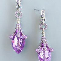Lavender Midnightsky Statement Earrings
