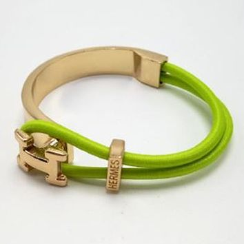 Hermes Woman Fashion Logo Plated Bracelet Jewelry