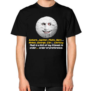 Mighty boosh the moon Unisex T-Shirt (on man)