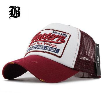 PEAPON [FLB] Summer Baseball Cap Embroidery Mesh Cap Hats For Men Women Gorras Hombre Polo Ca