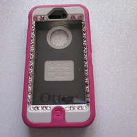 Custom 3D Bling Otterbox Defender Iphone 5 Case by 14allcases
