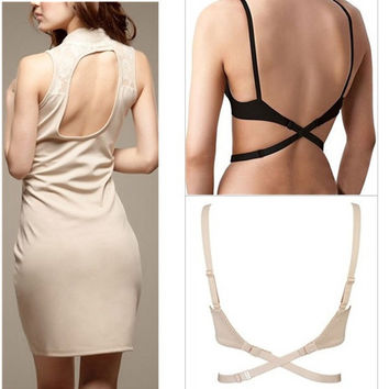 Low Back Backless Adapter Converter Bra Strap
