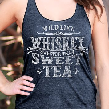 Wild Like Whiskey | Essential Racerback Tank Top