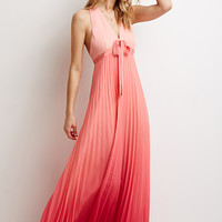 Pleated Ombré Maxi Dress