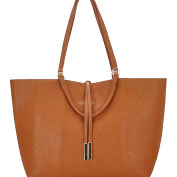 MMS Design Studio Reversible Tote Bag in Tan BGS-1050-TAN/TP