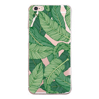 Green Leaves Printed cover Cover for iPhone 6 7 7 Plus