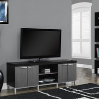 "Black / Grey Hollow-Core 60""L Tv Console"
