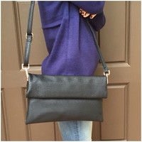 Black Envo Wide Handbag - Black Envo Wide Handbag