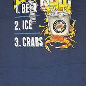 New MARYLAND FLAG BUCKET LIST CRAB  T  SHIRT