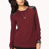 Zip Shoulder Sweatshirt