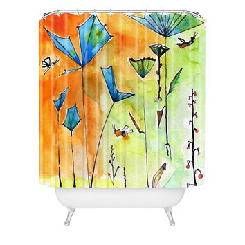 Ginette Fine Art Miro Poppy Land Shower Curtain