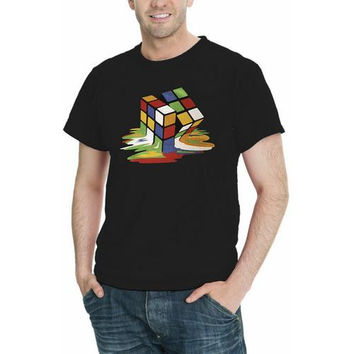 Melting Cube Graphic Men T-Shirt Assorted Colors Sizes S-5XL (on selected colors)