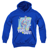 SAVED BY THE BELL/TIME OUT-YOUTH PULL-OVER HOODIE - ROYAL -