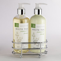 White Tea Jasmine & Ylang Liquid Soap and Lotion Caddy - World Market