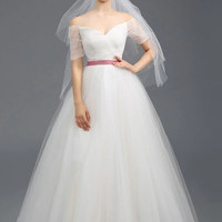 Tulle Column A-Line Wedding Dress