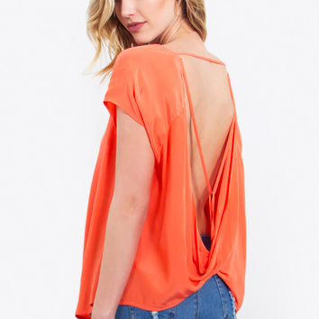 Backless Twist Top