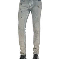 Men's Nygel Slim-Fit Distressed Jeans, Gray/Blue - IRO - Gray/Blue (34)