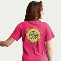 Cherished Girl Follow the Son Sun Jesus Sunflower Girlie Christian Bright T Shirt