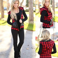 Home For The Holidays Vest in Red