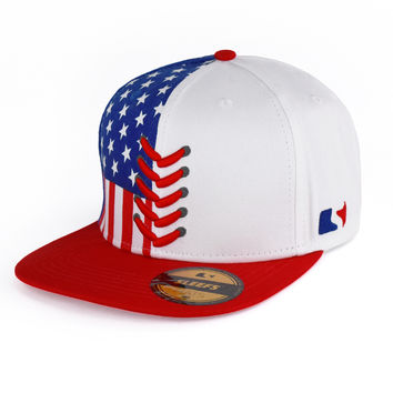 Baseball Lace USA Adjustable Hat