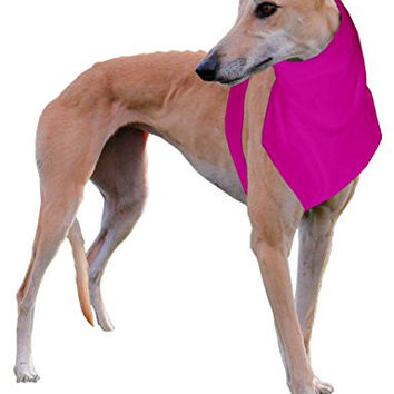 The Doggy Dickey Fleece Neck and Chest Warmer for Large Greyhounds, Pink