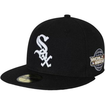 Chicago White Sox New Era 2005 World Series Wool 59FIFTY Fitted Hat - Black